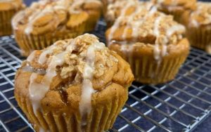 Pumpkin Banana Bread Protein Muffins