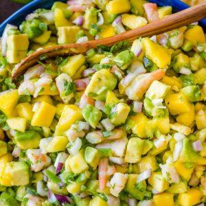 Shrimp and Mango Guacamole