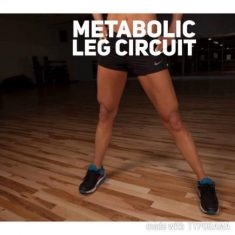 SWEET N FIT'S METABOLIC LEG CIRCUIT