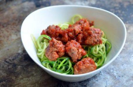 Meatballs and Zucchini Spaghetti