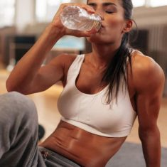 woman drinking post workout
