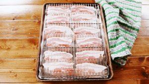 Bacon Sushi Keto bake bacon in the oven