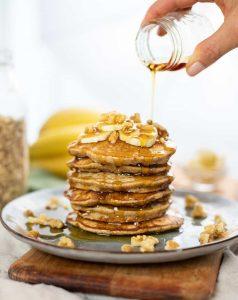 Banana Oatmeal Pancakes 1 scaled