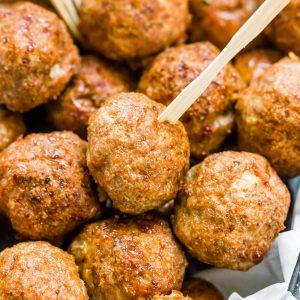 Easy Turkey Meatballs Keto featured photo
