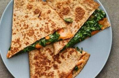 Kale Sweet Potato Quesadilla