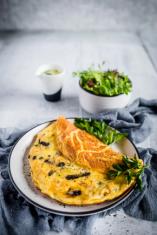 Mushroom omelette Keto Breakfast