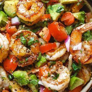 Shrimp Avocado Keto Salad