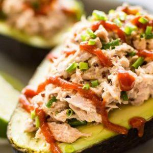 Spicy Stuffed Tuna Avocado Keto feature