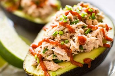 Spicy Stuffed Tuna Avocado Keto feature