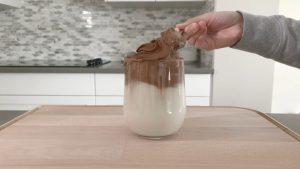 instruction Chocolate Dalgona Drink Keto Low Carb