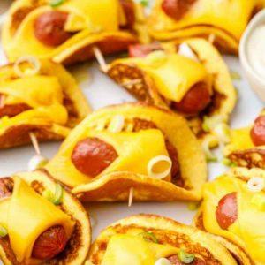 High Protein Keto Pancakes Sausage Wraps