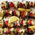 The Herbed Lemon Garlic Chicken Skewers