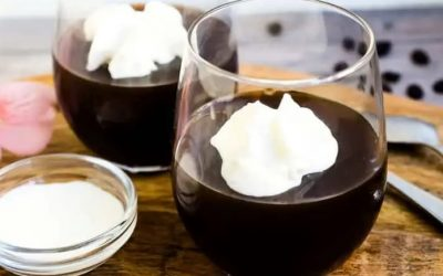 Easy Keto Coffee Jelly with Cream Recipe