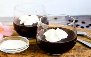 Easy Keto Coffee Jelly with Cream