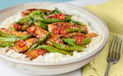 Low Carb Sesame Pork with Green Beans