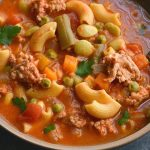 Protein Chickpea Minestrone Soup