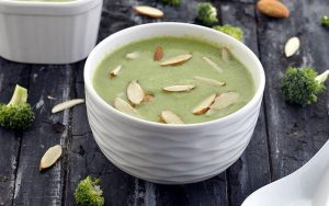 Protein Almond Broccoli Soup