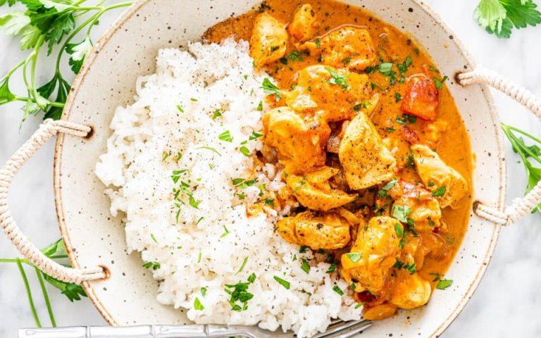Healthy Creamy Chicken Curry Recipe