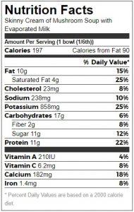 Low Fat Mushroom Soup NF