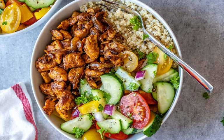 Healthy Chicken Shawarma Bowl Recipe