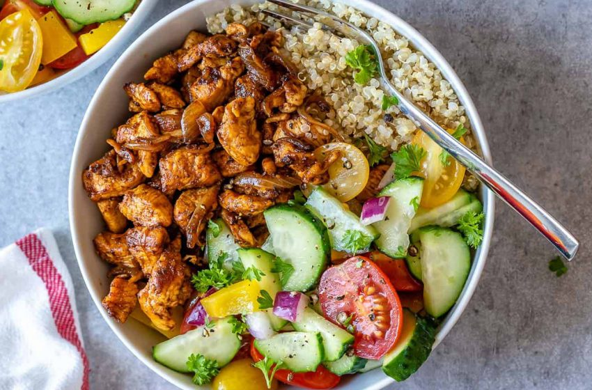 Healthy Chicken Shawarma Bowl