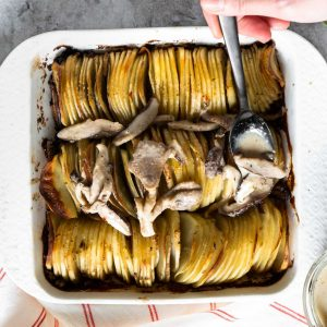 Whole30 Hasselback Potato Gratin
