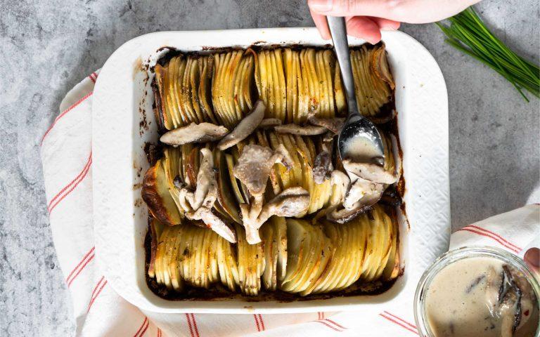 Whole30 Hasselback Potato Gratin Recipe