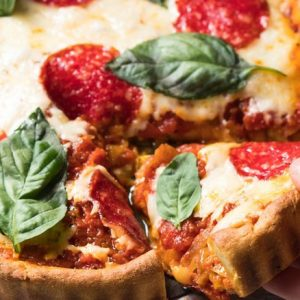 Deep Dish Pizza Keto