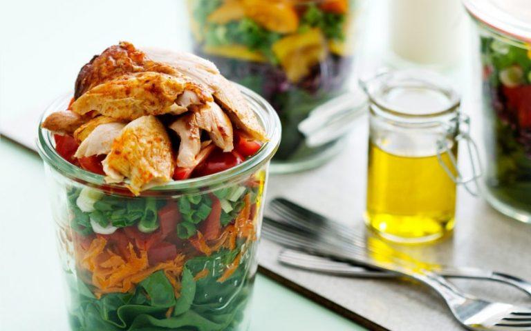 Easy Keto Salad Jar Recipe