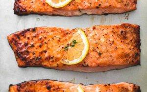 High Protein Baked Salmon