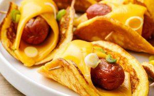 High Protein Keto Pancakes - Sausage Wraps