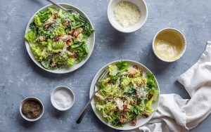 Homemade Keto Caesar Salad