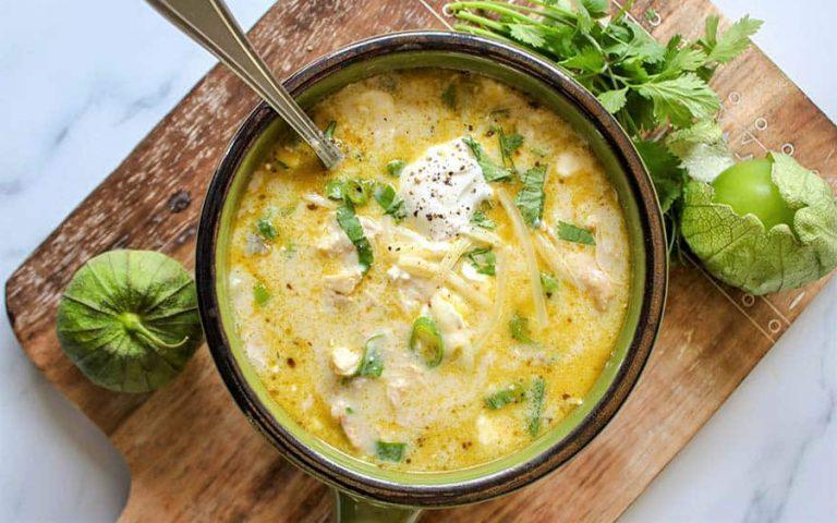 Keto Chicken Enchilada Soup Recipe