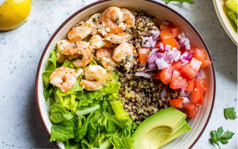 Lemon Chili Shrimp Quinoa Bowls Recipe