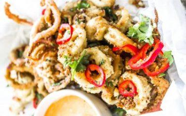 Low Carb Fried Calamari Recipe