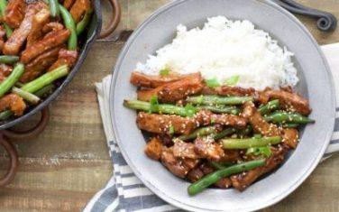 Low Carb Sesame Pork with Green Beans Recipe