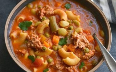 Protein Chickpea Minestrone Soup Recipe