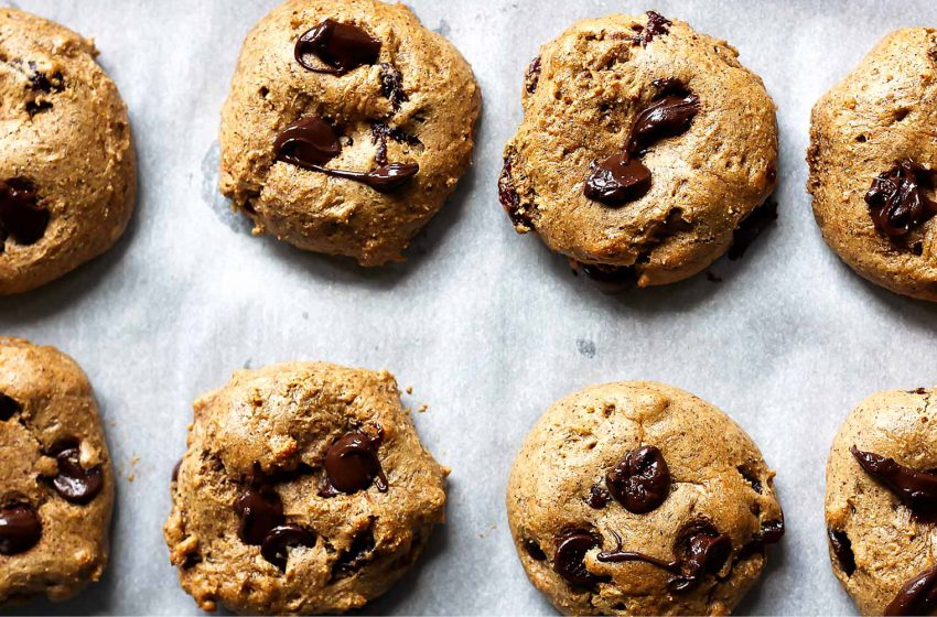 Protein Chocolate Chip Cookies with Almond Butter