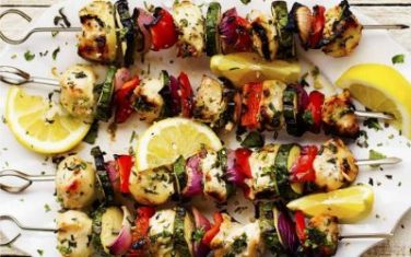 Herbed Lemon Garlic Chicken Skewers Recipe