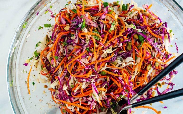 Red Cabbage Salad Easy Vegan Recipe